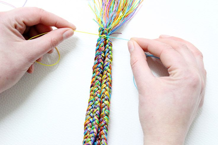DIY necklace | How to make a nylon thread necklace - Step 6. | Mollie Makes