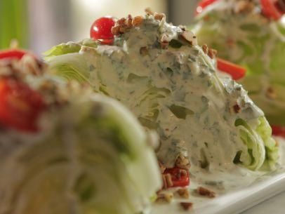 "Blue Cheese Ranch Wedge Salad (Rainy Day Egg Hunt) - Damaris Phillips, ""Southern at Heart"" on the Food Network."