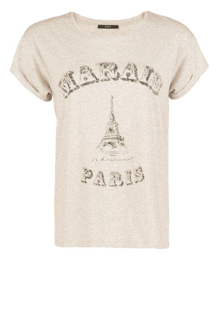 T-shirt Marals Paris   grijs van Set op www.littlesoho.com