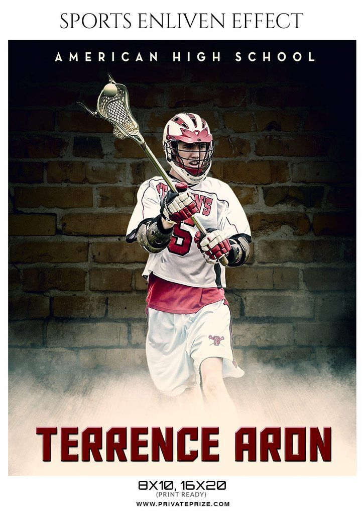 Terrence Aron - Lacrosse Sports Enliven Effects Photography Template