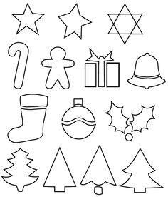 Felt Christmas pattern: simple ornament patterns