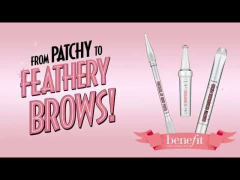 Patchy to Perfectly Feathery Brow Tutorial - http://47beauty.com/cosmeticcompanies/patchy-to-perfectly-feathery-brow-tutorial/ Benefit Cosmetics Benefit Cosmetics