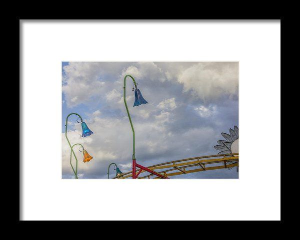 Carnival Lights At The Topsfield Fair Framed Print By David Stone