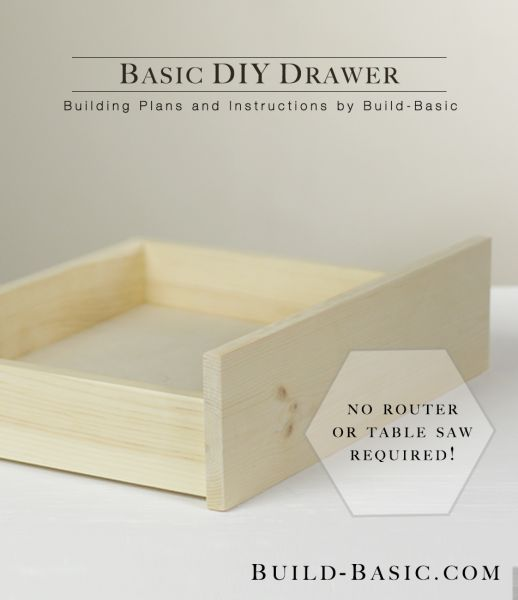 Even novice DIYers will be able to build professional-looking drawers with these clever step-by-steps from @BuildBasic www.build-basic.com. And no router or table saw required!