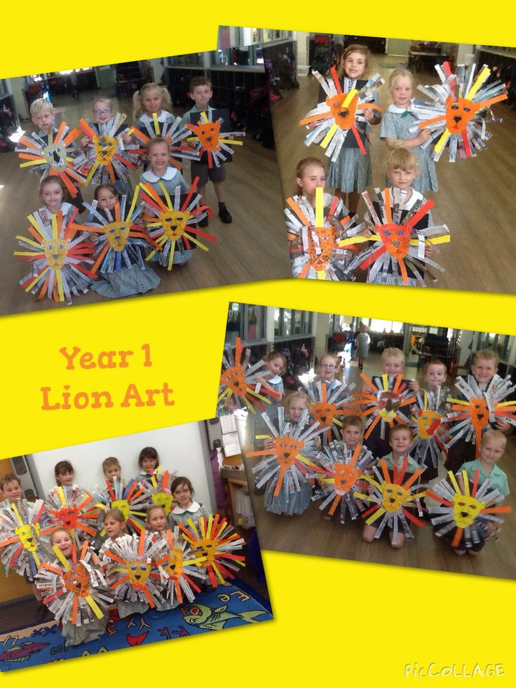 Year 1 read the story 'The Lion and the Mouse' and created some amazing lions in Art.