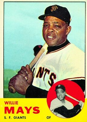 willie mays baseball card | 1963 Willie Mays Topps Card #300 « Punky G. (G stands for Giants!)