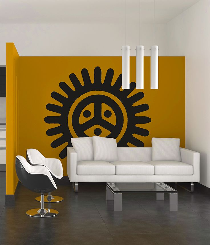 Taino Sun/Sol Petroglyph Wall decal from www.tainorising.com...love that this would look great with any wall color of my choice.  I love this!