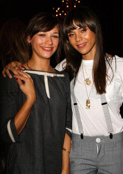 two daughters of Quincy Jones- (l-r) Rashida & Kidada Jones