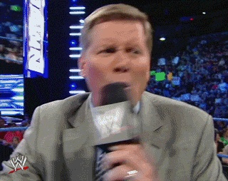 "The ""YOU"" chant not really catching on    #wrestling  #wwe  #smackdown  #john #laurinaitis  #gif"