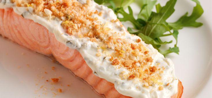 PhiladelphiaPhiladelphia Garlic and Herb crusted Salmon