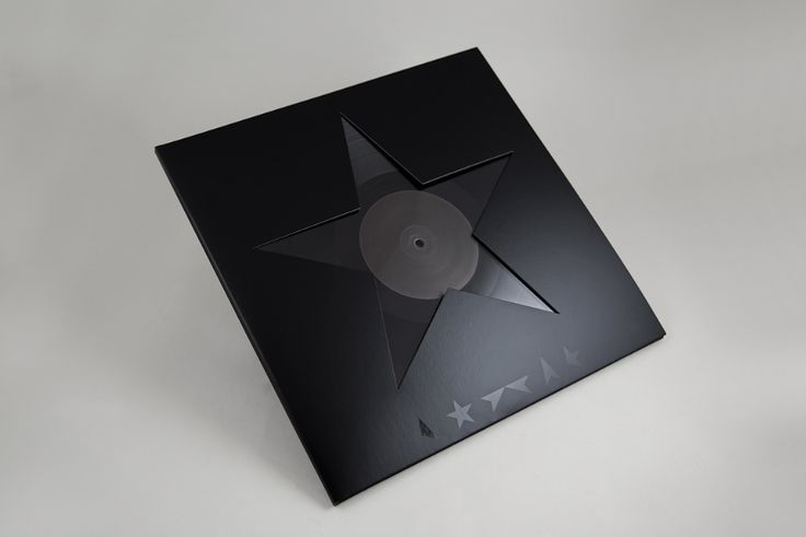 Джонатан Барнбрук, обложка последнего альбома Дэвида Боуи. Все выполнено в черных тонах, надписи виниловые — как и пластинка.