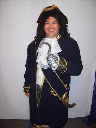 """Capt Hook .. Available for Hire ...This one is Lge - Xl the Movie """"Hook"""" 1991"""