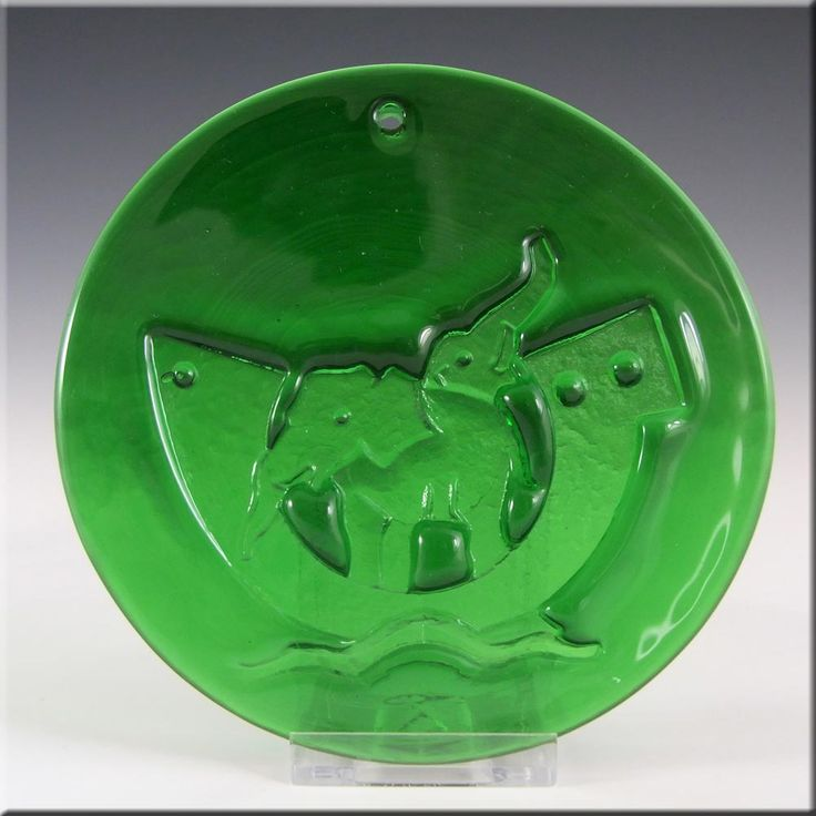 Holmegaard Michael Bang Green Glass Noahs Arc Suncatcher - £40.00