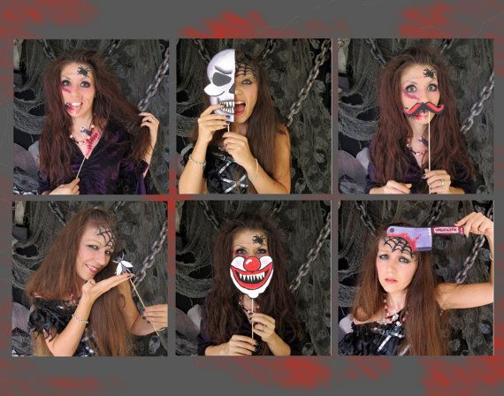 scary Halloween photo booth props - perfect for your Halloween bash or your creepy party. $14,99, via Etsy.