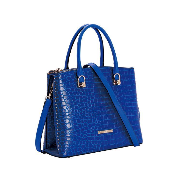 6253e6acab Bolsa de Mão Chenson Croco Deluxe - Azul