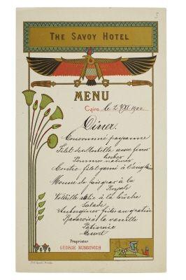 Casino egypt menu