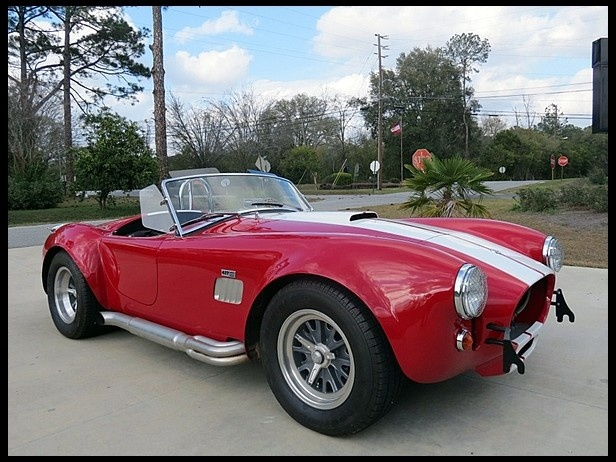 1967 Shelby Cobra Replica  5-Speed Manual-I guess it doesn't look too bad in red ;)