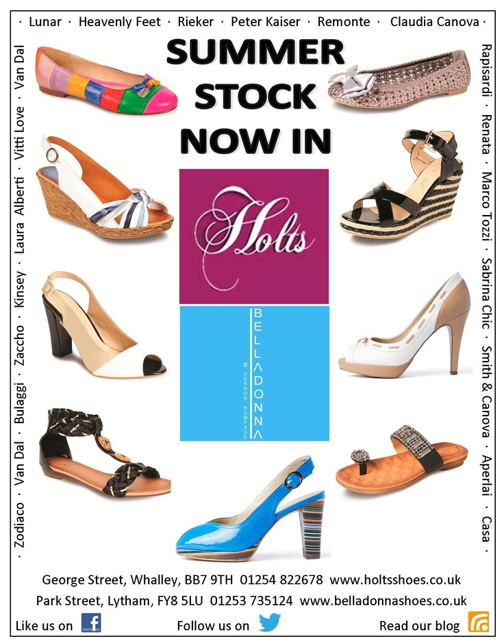 Summer Stock Now In @ Holts Shoes