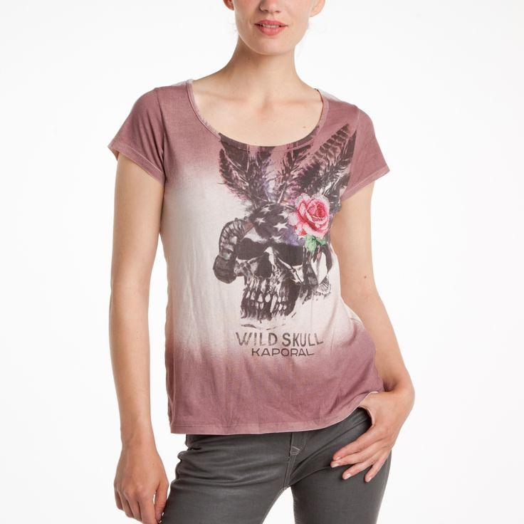 T-shirt col rond manches courtes imprimé et brodé femme KAPORAL - 3 Suisses