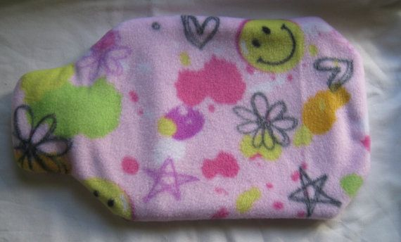 Hand Made Fleece Cover for 2L Hot Water Bottle  by jaynesMADEIT, $8.00