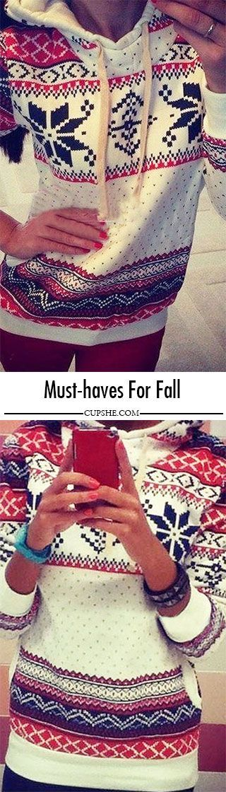 Christmas sweater are at the top of fall fashion's must-have list. It features classic snow pattern with Christmas printing and made in fleece lining,keeping you warm all the fall. You can enjoy free shipping and Tax at CUPSHE.COM !