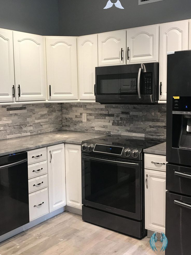 Black Kitchen Cabinet With Black Appliance Fresh Black Stainless