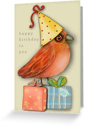 The cutest little bird birthday card :)    #birthday #greetingcards