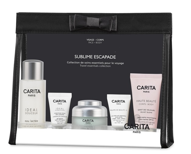 Carita airplane kit. Perfect for travels and short stays.