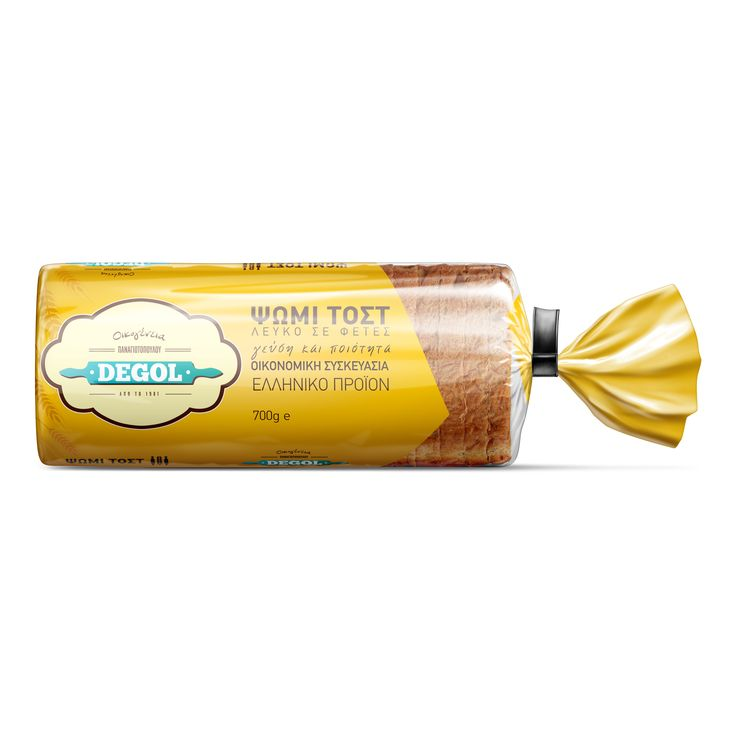 Packaging - Toast bread - Σχεδιασμός συσκευασίας ψωμί τοστ