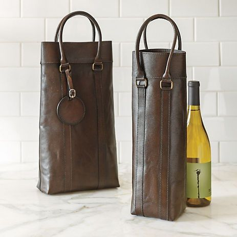 Leather Wine Bottle Carriers, Madeira