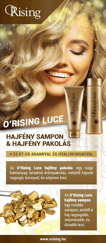 Valódi csillogásra vágysz  Próbáld ki az új O Rising Luce hajfény hajápoló  családot! 5006f20ac3