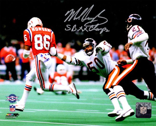 Mike Singletary Signed Chicago Bears Super Bowl XX vs Patriots 8x10 Photo w/SB XX Champs