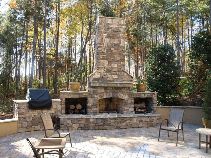 freestanding stone fireplace - Google Search - 17 Best Ideas About Outdoor Stone Fireplaces On Pinterest