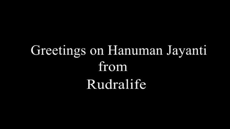 Hanuman Jayanti Greetings from Rudralife  Rudralife is celebrating Hanuman Jayanti 2016.