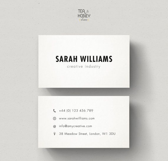 Minimalistic Business Cards, Calling Card Design, Minimal Design, Simple Business Card, Black white, Promotional Card, Minimalistic Brand