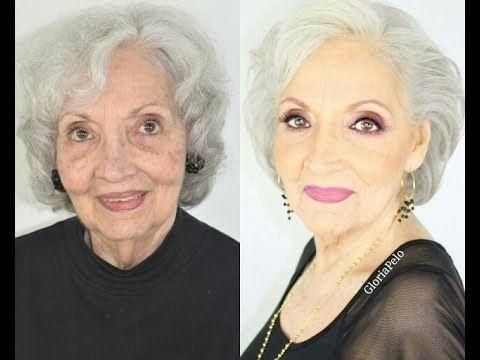 Maquillaje para Abuelas Piel Madura - YouTube