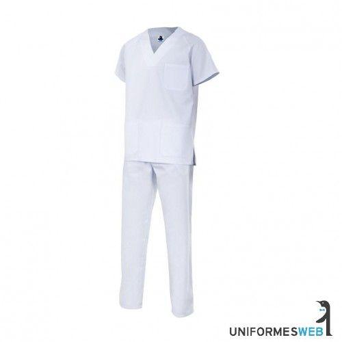 ropa de trabajo uniforme laboral pijama completo blanco en uniformes web