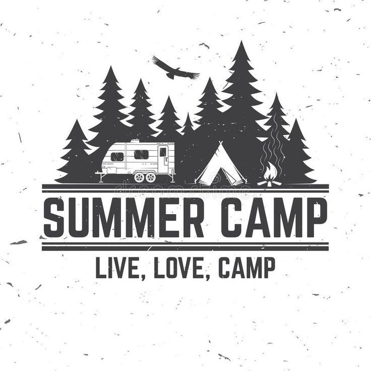 Summer Camp. Vector Illustration. Concept For Shirt Or