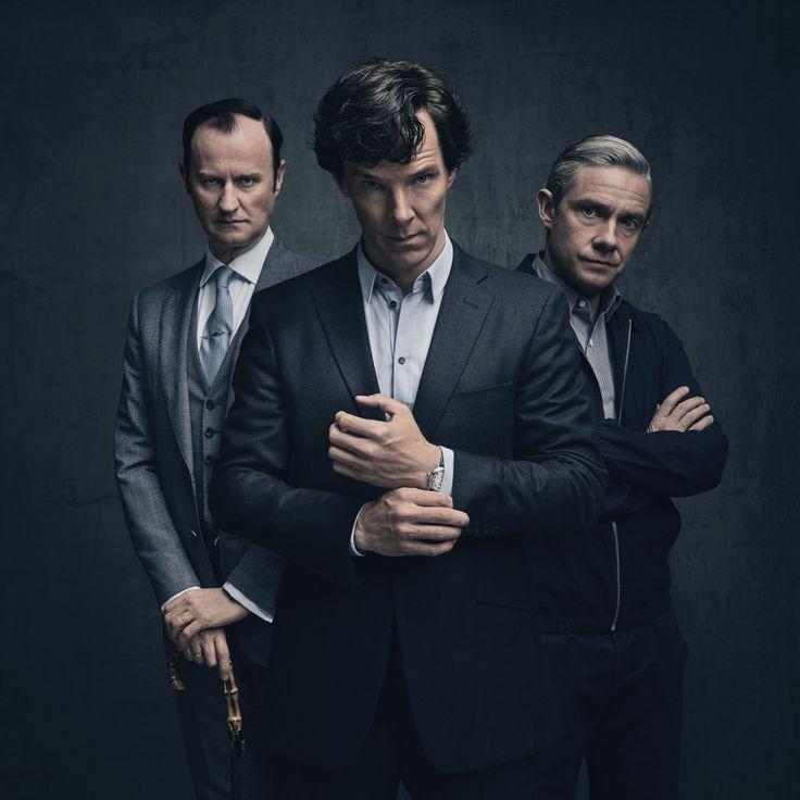 Mycroft, Sherlock, and John - Sherlock Series 4