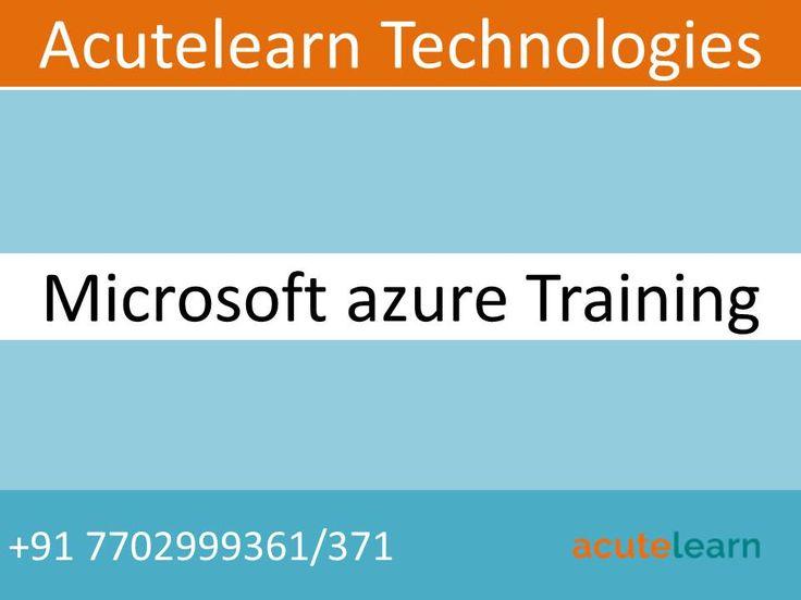 Acutelearn is leading training company provides corporate, online and classroom training on various technologies like AWS, Azure, Blue prism, CCNA, CISCO UCS, CITRIX Netscaler,CITRIX Xendesktop, Devops chef, EMC Avamar, EMC Data Domain, EMC Networker, EMC VNX, Exchange Server 2016, Hyper-V, Lync server, Microsoft windows clustering, Netapp, Office 365, Openspan, RedHat openstack, RPA, SCCM, vmware nsx 6.0, vmware vrealize, vmware vsphere, windows powershell scripting
