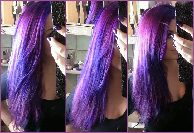 Didn't understand her but it looks like Directions violet over pink