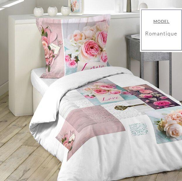 Bavlnené posteľné obliečky v romantickom motíve