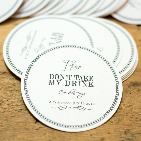 17 best ideas about wedding coasters on pinterest food for Drink coaster ideas