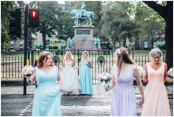 Bridesmaids, Edinburgh wedding, Roxburghe Hotel