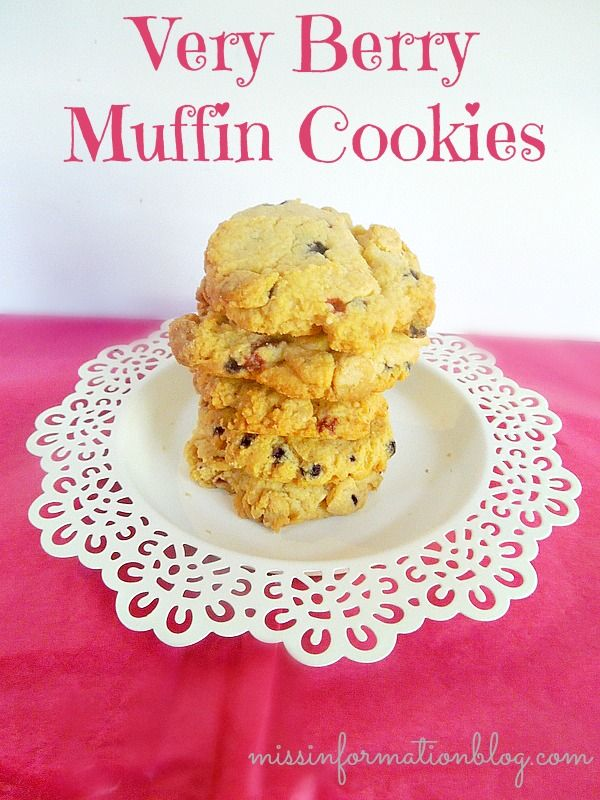 Make these yummy Very Berry Muffin Cookies with packaged muffin mix ...