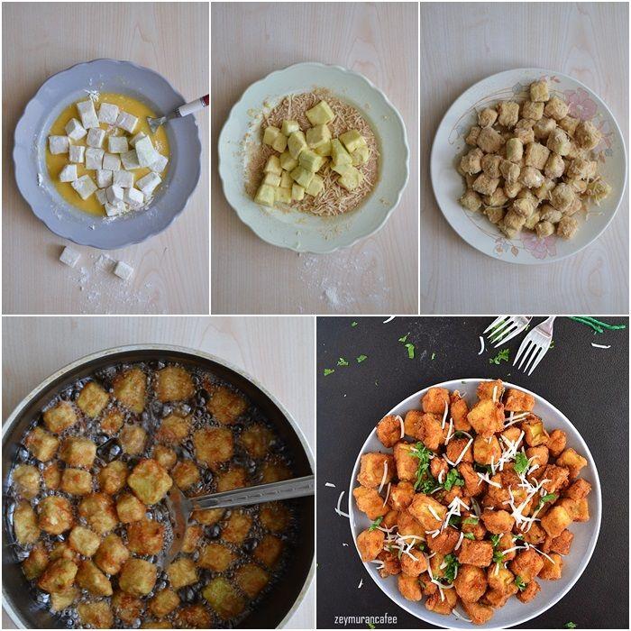 galeta unlu patlıcan kızartması yapılışı