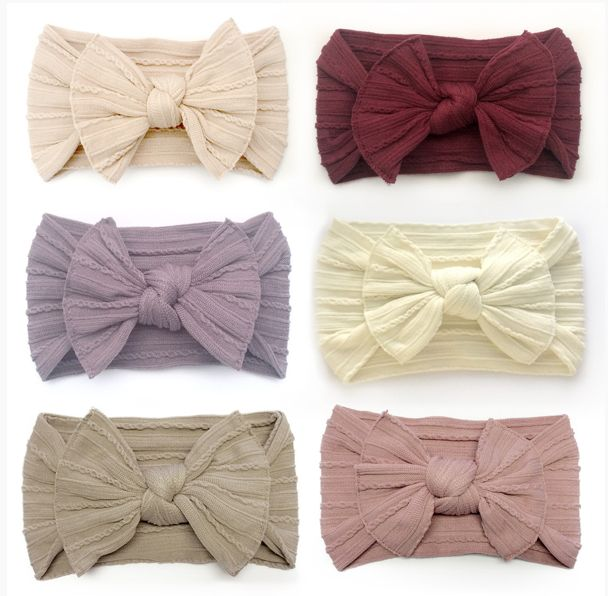 Simple and sweet knot headband. These will fit newborn up to toddler. If they become stretched out, just wet them and let them dry. They will shrink.