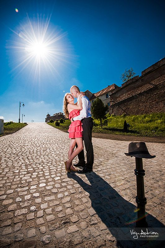 Engagement session - preview  Shot at Brasov Citadel.