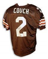 Tim Couch signed Cleveland Browns Authentic Puma Jersey . $145.35. Tim Couch was a standout Heisman Trophy finalist in 1998 while playing for the University of Kentucky, and was the number one selection in the 1999 NFL Draft by the Cleveland Browns. Tim Couch has hand autographed this Cleveland Browns Puma Authentic Jersey. Certificate of Authenticity from TriStar Productions.