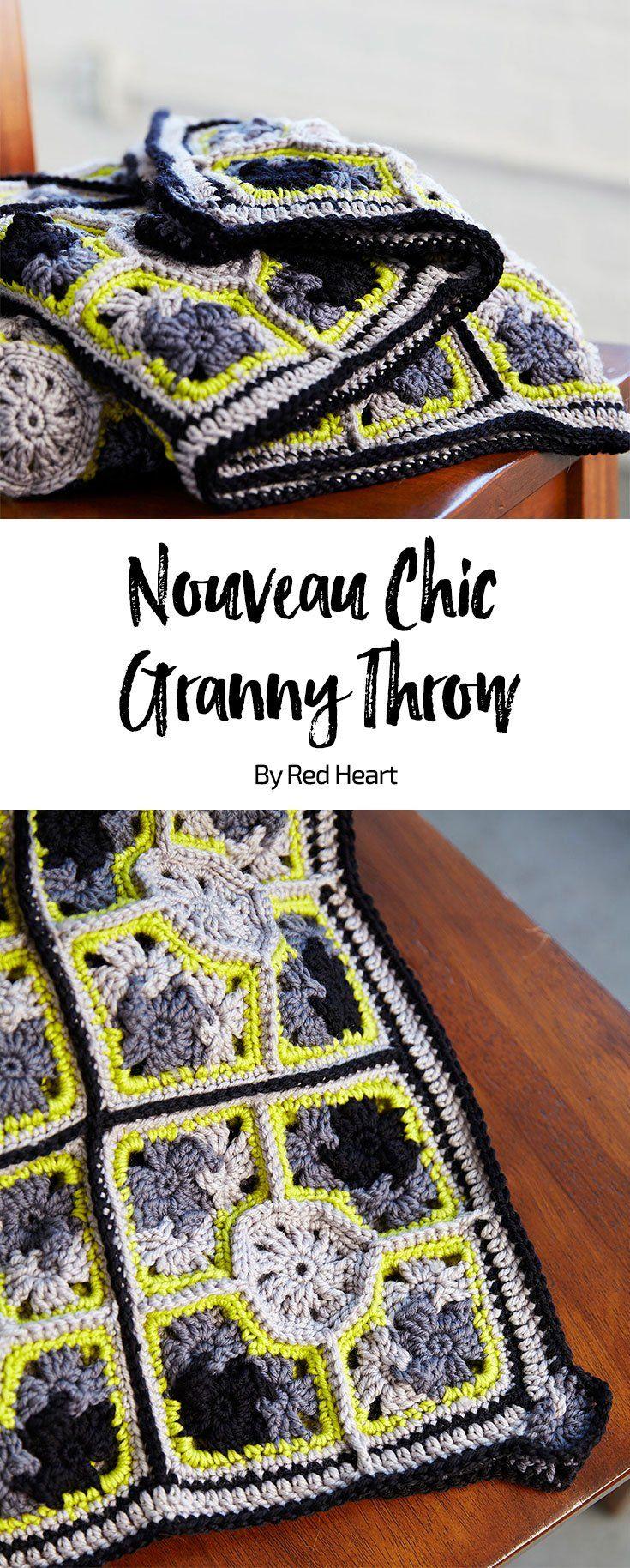 Nouveau Chic Granny Throw Free Crochet Pattern In Chic Sheep Merino